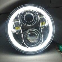 """1X siyah krom 5.75 """"HID LED far yüksek/düşük ışın 5 3/4"""" ön sürüş kafa kafa lambası ışığı için 5.75 inç far projektör"""