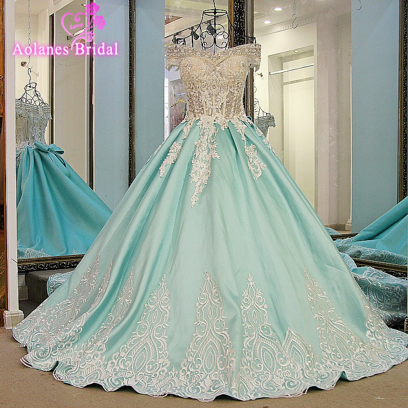 Robe de Soiree Longue Lace Up Back Ball Gown Lace Evening Dress 2017 Long Appliques Crystals Beaded Prom Gowns Vestido de Festa