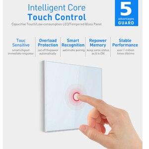 Image 3 - جهاز المنزل الذكي Coolcam 10 قطع لمفتاح إشارة Z wave 1 جهاز منزلي ذكي يعمل باللمس على الحائط يعمل بأتمتة منزلية Z Wave Plus لاسلكي