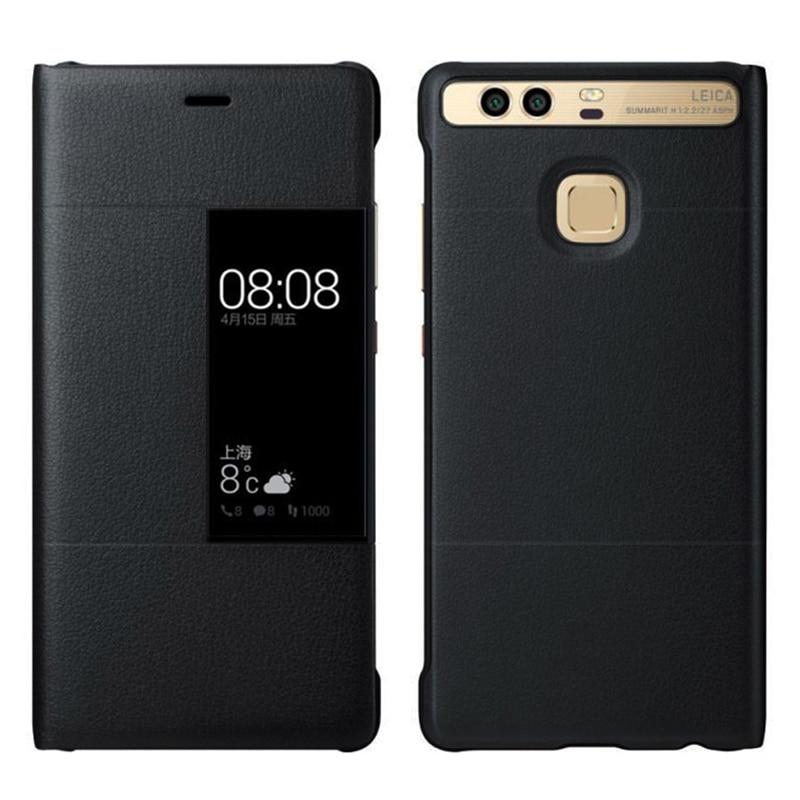 Роскошный чехол-книжка из искусственной кожи с окошком для Huawei P9 P9 Plus Ультратонкий чехол
