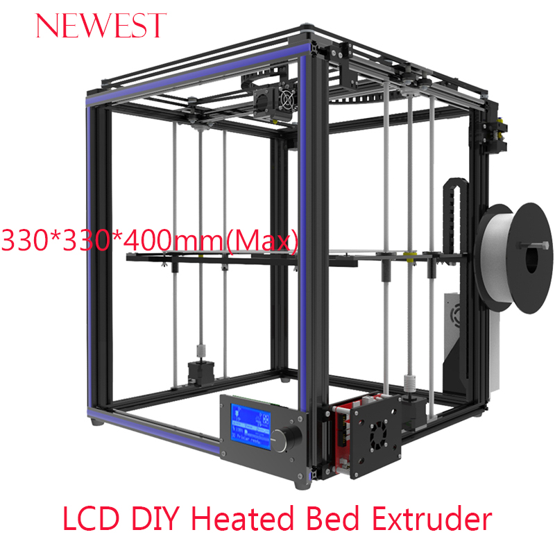 Newest full Aluminium Profile 3D printer I3 Mega full metal frame colorful industrial grade high precision Free shipping 55ml aluminium sub tank printer part