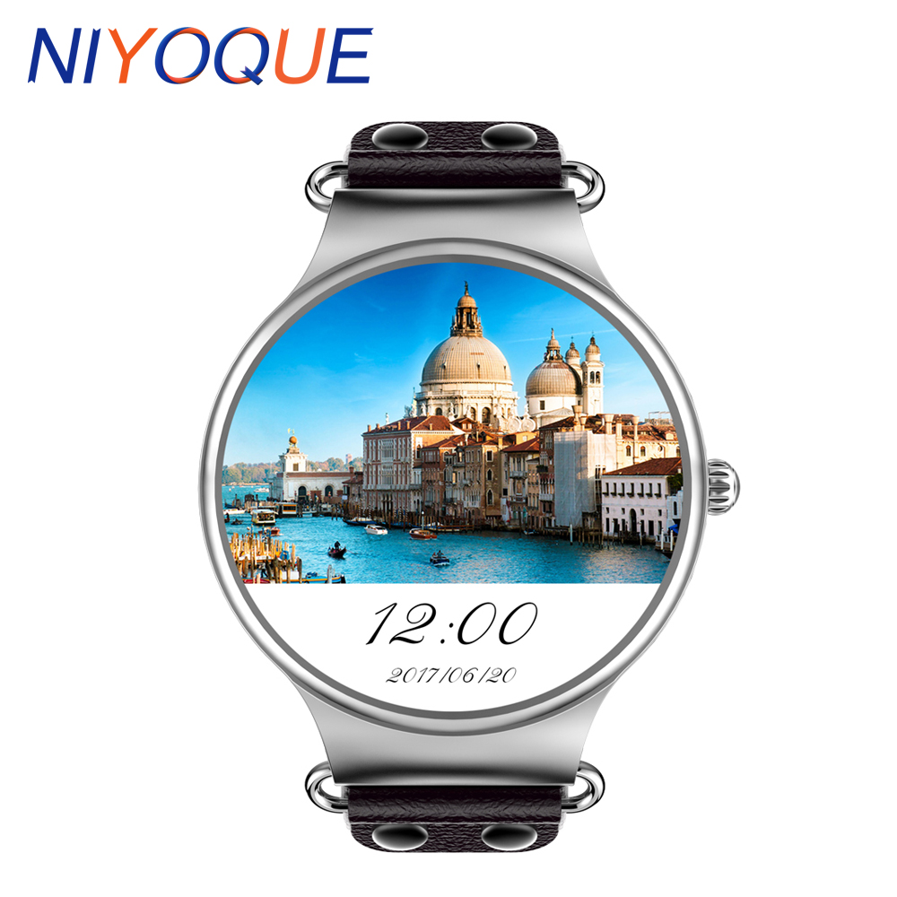 NIYOQUE KW98 3G SIM Card Android Smart watch 8GB GPS Wristwatch Phone MTK6580 Quad Core 1.39 inch Heart Rate Monitor Pedometer jrgk kw99 3g smartwatch phone android 1 39 mtk6580 quad core heart rate monitor pedometer gps smart watch for mens pk kw88