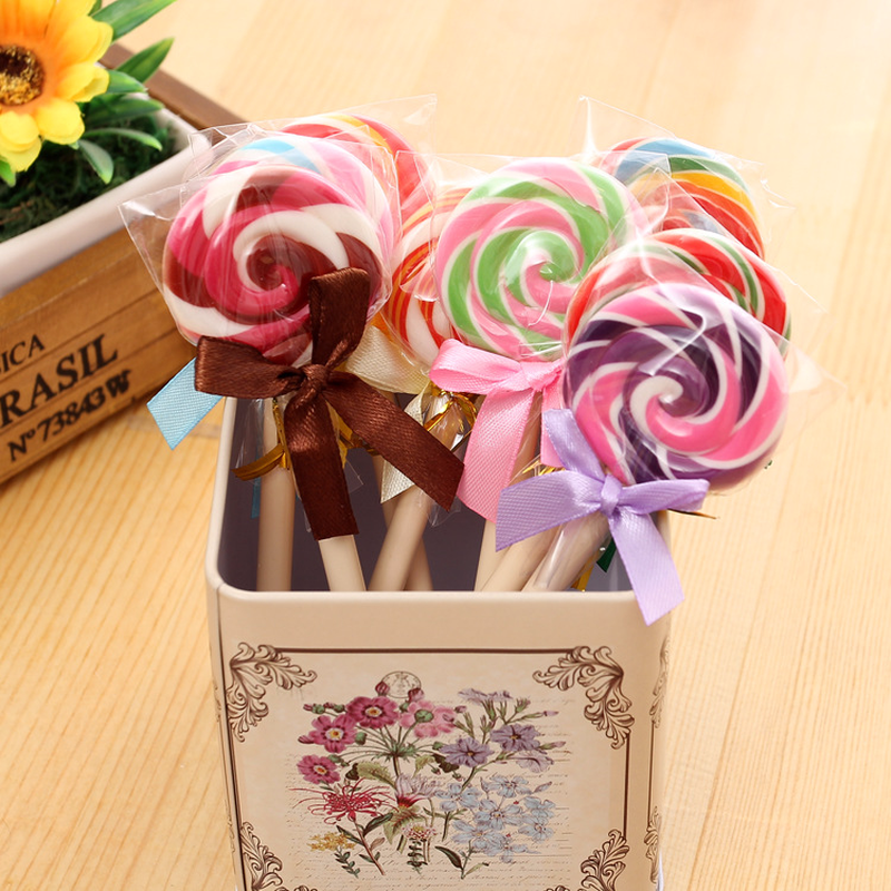 Creative Candy Style Lollipop Ballpoint Pen Student Cute Gift School Office Signing Pen Stationery Supplies 1 Pcs