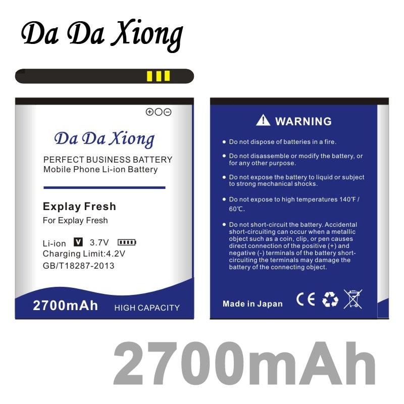 Xiong Da Da Bateria 2700mAh para Explay Vega Explay Explay Fresco A500 Wiko Cink Cinco Wiko Íris Wiko Bloom telefone
