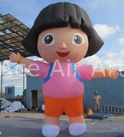 6m H Outdoor Giant Balloon Inflatable Girl For Promotion/Decorations On Event