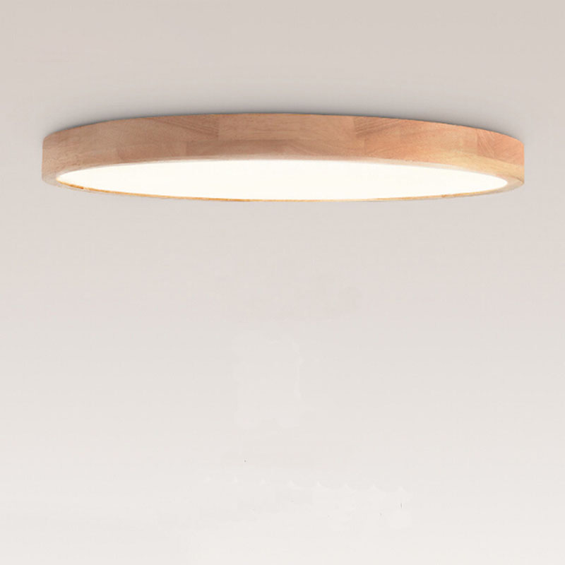 Surface mounted OAK Modern round square led ceiling lights for living room bedroom study room wooden led ceiling lamp fixture simple style ceiling light wooden porch lamp square ceiling lamp modern single head decorative lamp for balcony corridor study