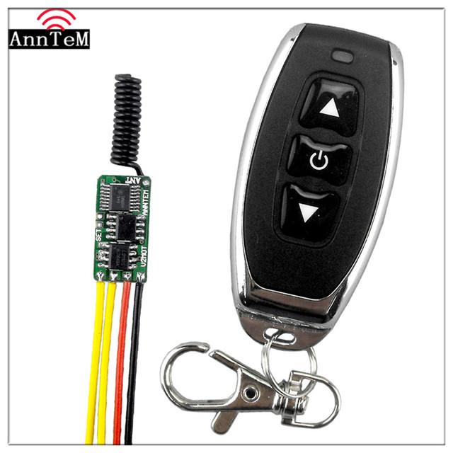 Anntem brand RF DC3V to 12v Remote Control Switch Motor Coil electromagnet Forward and Reverse 433mhz Transmitter +Receiver