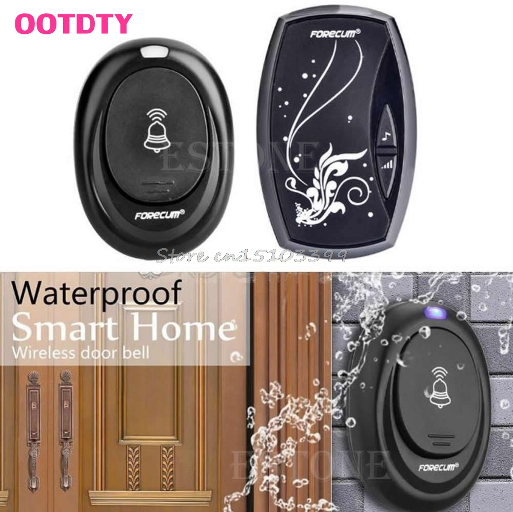 36 Songs Wireless Receiver Remote Control 100M Waterproof Doorbell Door Bell Drop Ship