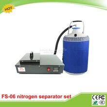 FS-06 built in oil-free pump frozen lcd Separator machine 2 in 1 pack with 10L liquid nitrogen tank free tax to RU