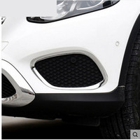 2pcs ABS Chrome Front Fog Light Lamp Cover Trim Frame Sticker For Mercedes Benz GLC Class