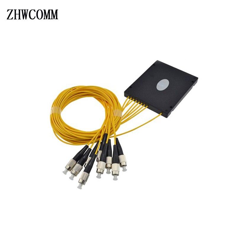 ZHWCOMM High Quality 1M FC 1X8 Fiber Optic splitter box FC/UPC Fiber Optical PLC Splitter