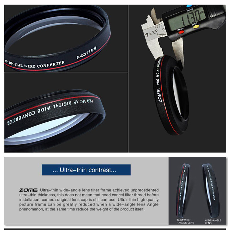 0 45x Professional Wide Angle Conversion Lens 49 52 55 58 62 67 72 77mm Filter Lens Kit for Nikon Canon Pentax Sony Camera in Camera Filters from Consumer Electronics