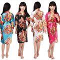Vestes De Cetim De Seda Floral da menina de flor Crianças De Noiva festa robe Quimono Robes KR001