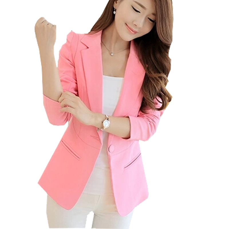 Popular Hot Pink Blazer-Buy Cheap Hot Pink Blazer lots from China ...