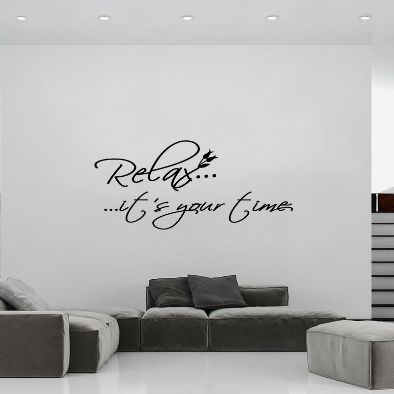 Relax is your time living room bedroom backdrop carved wall stickers wholesale custom 019 in wall stickers from home garden on aliexpress com alibaba