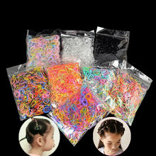 1000 pces elásticos descartáveis faixa de borracha mini faixas de cabelo papelaria escritório escola bandas de borracha para girlsl crianças 2cm