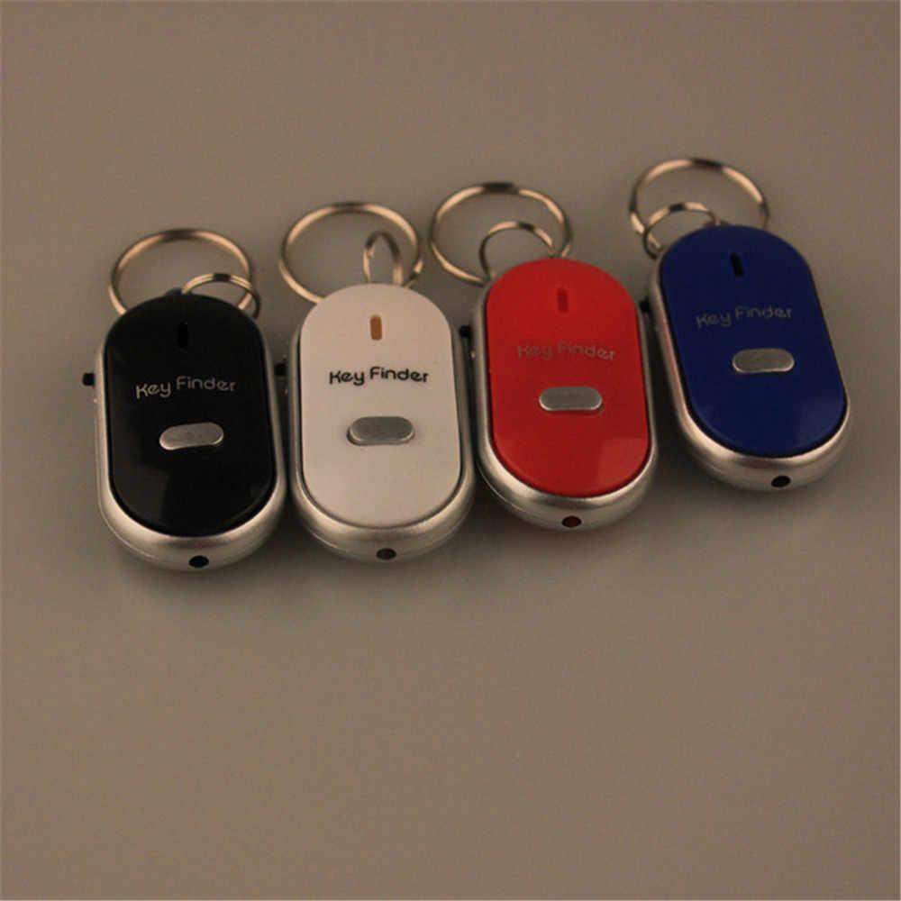 Wireless Whistle Key Finder Keychain สำหรับผู้หญิงผู้ชาย Anti - Lost อุปกรณ์ Keyrings Anti - Theft Ellipse พลาสติก Key ค้นหา