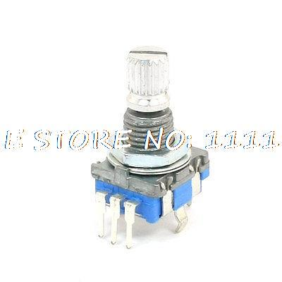 6mm Knurled Shaft 20 Position 360 Degree Rotary Encoder w Push Button Switch new bes50 08s6h 360 rotary encoder shaft diameter 50mm outer diameter 8mm 360 line