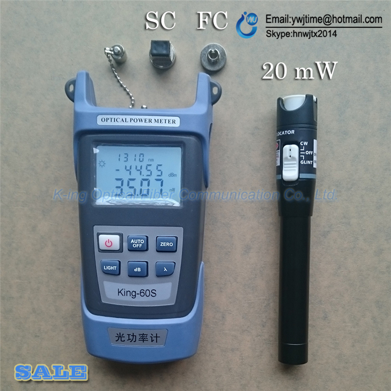 2 Dans 1 Outil De Fiber Optique FTTH Kit Fiber Optique Power Meter-70 + 10dBm et 20 km 20 mW Visuel Localisateur de défaut De Fiber optique test stylo