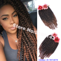 Ombre Synthetic Braiding Hair 6 Packs 18 Inch Havana Mambo Twist Hair 2x Crochet Braids Hair Extensions Ombre Jumbo Braids Hair