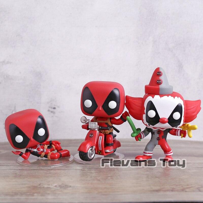 DEAPOOL 2 Deadpool auf Roller/Clown Sidelying Vinyl Figur Wackelkopf Puppen Sammeln Modell Spielzeug
