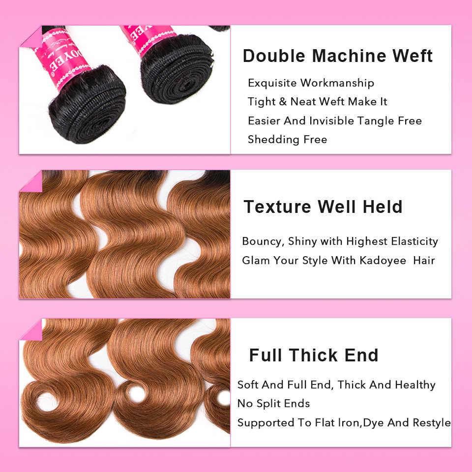 Brasilianische Haarwebart Bundles 100% Menschliches Haar Körper Welle 3bundles 1B27 Farbe Ombre Remy Haar Extensions 8-26 zoll Für Schwarze Frauen