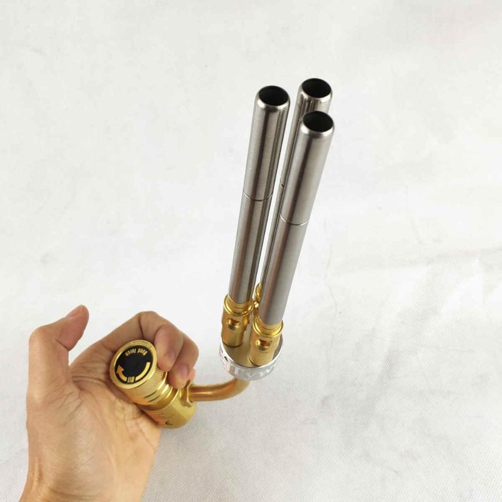 Mapp Gas Welding Torch Brazing Gun Super 3 Pipes Propane Gas Welding Plumbing Jewelry CGA600 Connection Burner Heater Blowtorch