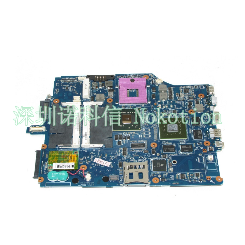 NOKOTION A1369752B MBX-165 Laptop Motherboard For VGN-FZ series DDR2 Free CPU Mainboard works jingchengda free shipping 10x lot laptop dc jack power socket for sony vaio vgn fz vgn nr vgn fw vgn pcg series 2pin