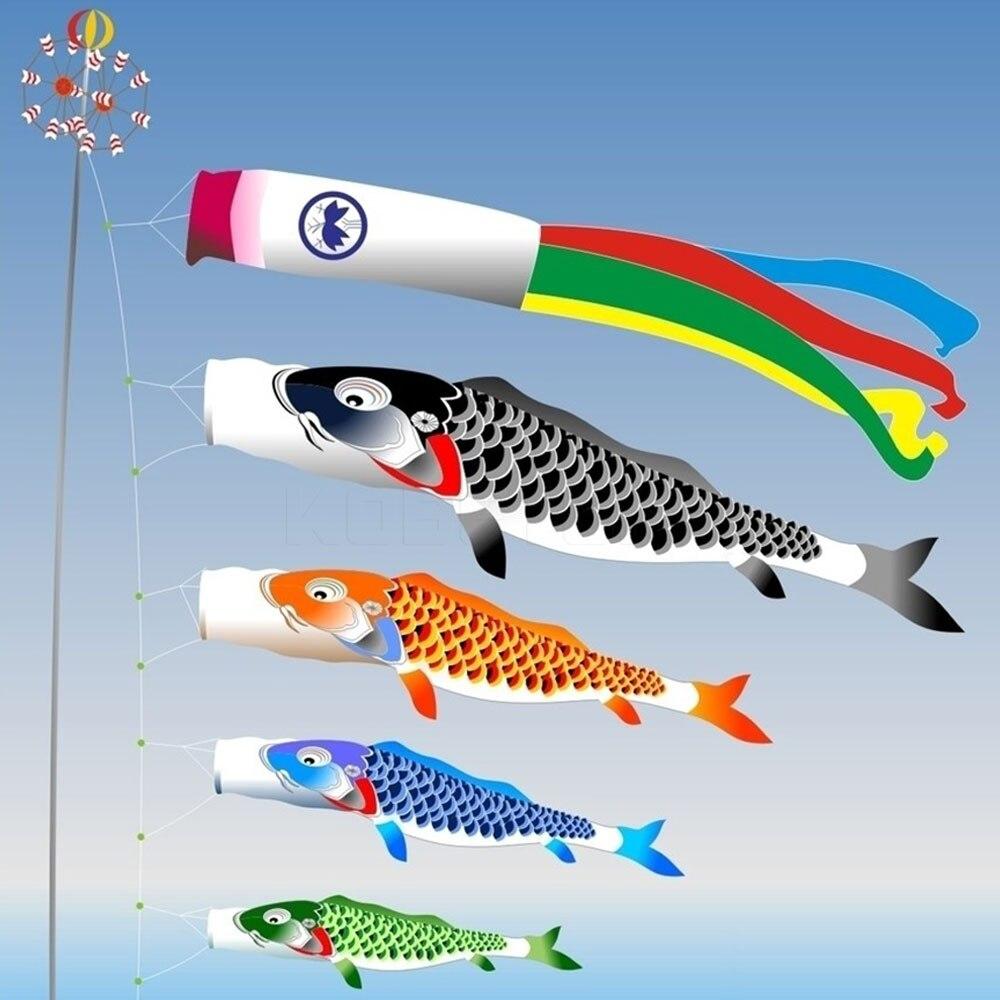 Cartoon Fish Wind Sock Flag Colorful Japanese Style Windsock Carp mini Koinobori Gifts Fish Wind Streamer Home Party Decorations 600rr anahtarlık