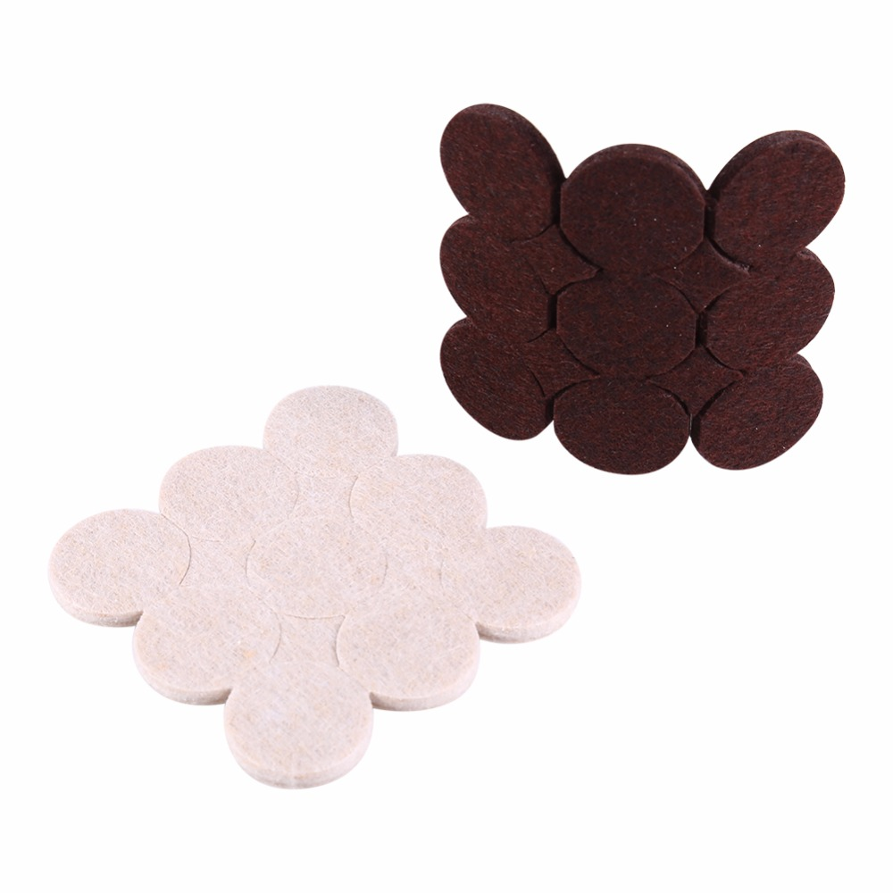 2-32pcs/pack Self Adhesive Felt Floor Furniture Table Chair Pads Mat Scratch Protector For Home Office Chair Table
