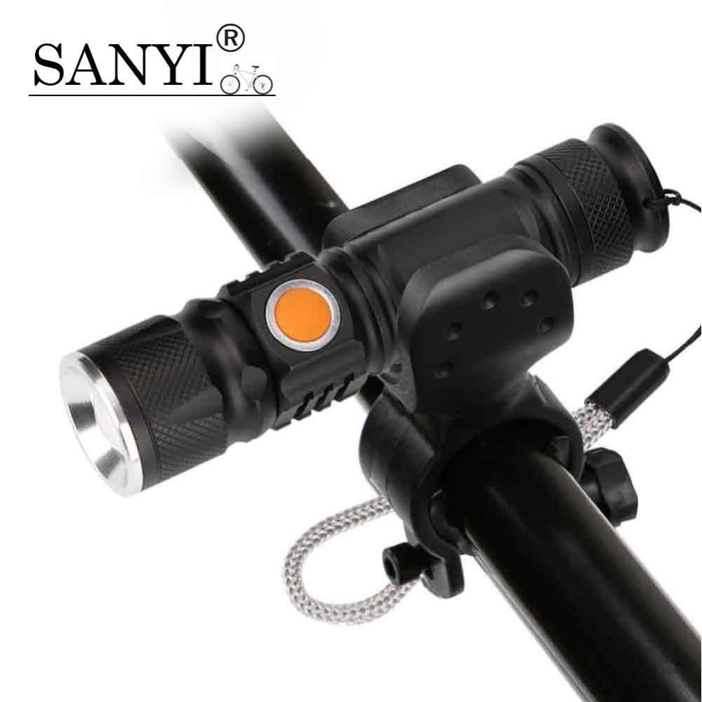 Flashlight, MTB, Rechargeable, Built-in, Battery, Bike