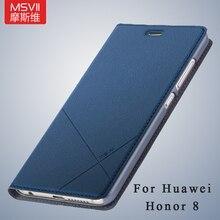 Honor 8 чехол оригинальный Msvii бренд Huawei Honor 8 чехол Бумажник кожаный чехол Стенд Флип кожаный чехол для Huawei honor8 случаях 5.2″