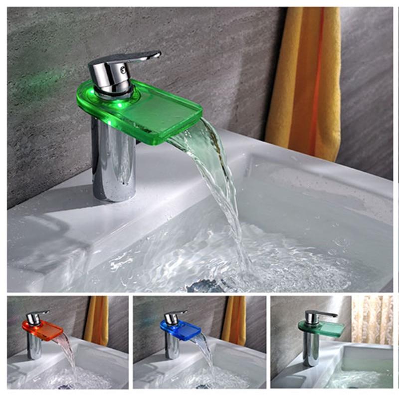 Led Faucet Temperature Sensor Kitchen Led Tap Light No