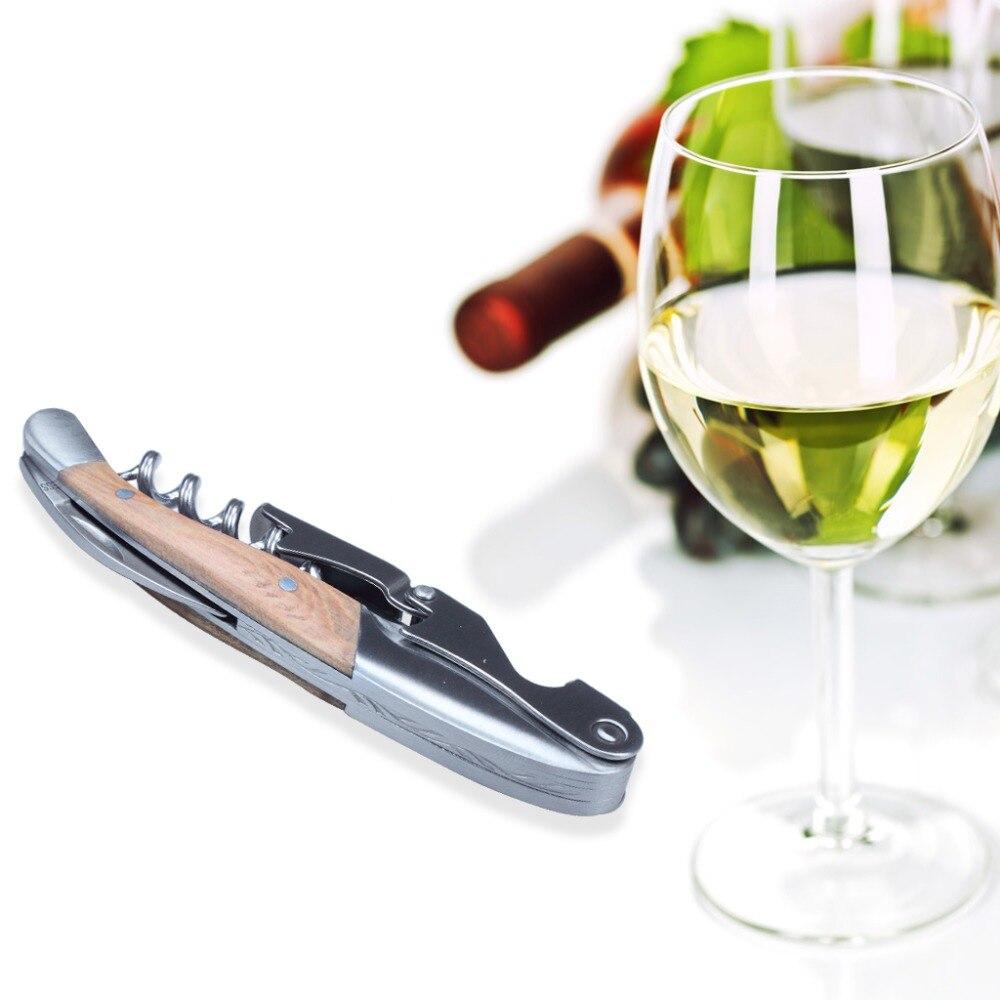 1 x profesional Acero inoxidable todo-en-un sacacorchos botella de vino abridor y cortador de papel para Sommeliers camareros y camareros