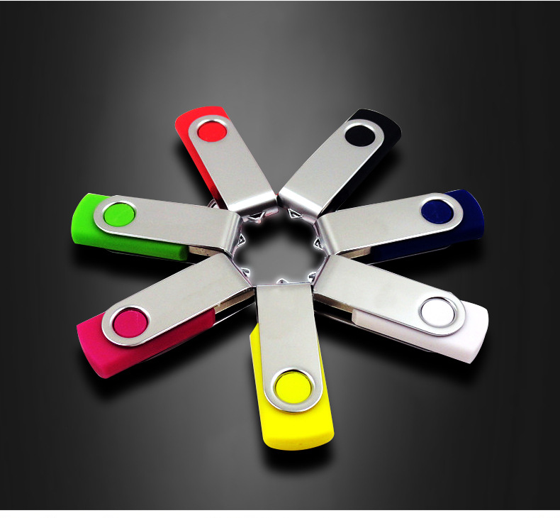 HOT! Pen Drive U Disk Swivel Key 8G 16G USB Flash Drive Metal 4G 32G 64G 128G USB Stick Real Capacity USB 2.0 Free Shipping
