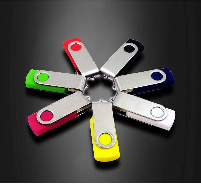 HOT! Pen Drive U Disk Swivel Key 8G 16G USB Flash Drive Metal 4G 32G 64G 128G USB Stick Real Capacity USB 2.0 Free Shipping