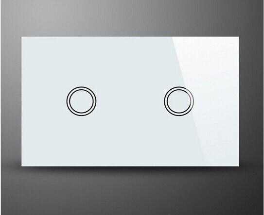 Domotica inalámbrico de interruptor de pared enchufe de EE.UU. 2 Gang panel de C