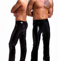 Men Black latex trousers rubber pants for strong men wear plus size Hot sale Customize service