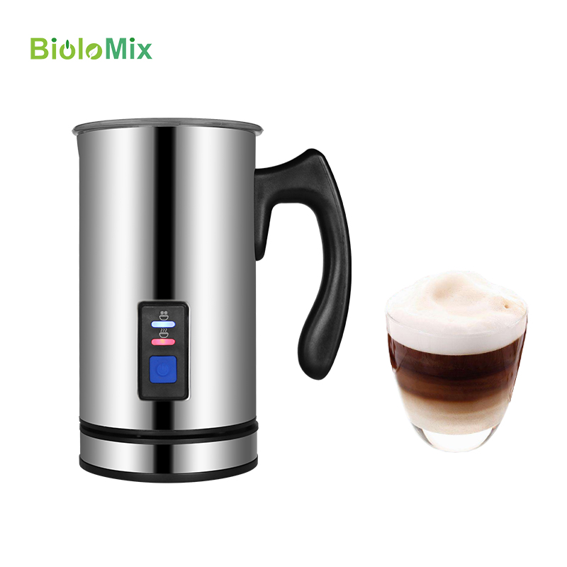 Milk Frother Cafeteira Eletrica Coffee Frother for Espresso Cappuccino Stainless Steel Milk Steamer 3 Function Detachable