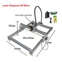 Disassembled New LY 10W laser wood router 10000MW diy laser engraving machine 30*40cm metal engraver marking machine