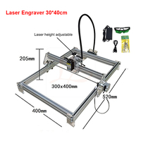Disassembled New LY 10W laser wood router 10000MW diy laser engraving machine 30*40cm metal engraver marking machine
