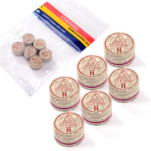 Image 2 - CUESOUL Billiard Cue Tips 6pcs/set 14mm Soft Baked Pig Leather Pool Cue Tips, 14mm, 10 Layer Cue Tip