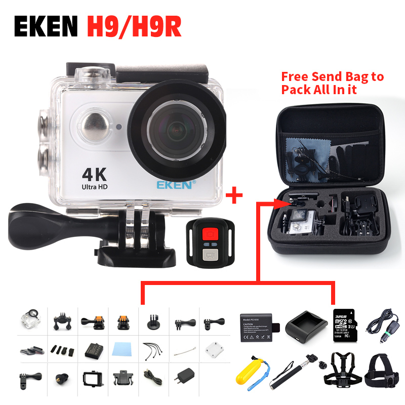 EKEN H9 H9R Ultra HD  4K / 25fps WiFi 1080P Remote WiFi 2.0 LCD waterproof pro Helmet Cam underwater go Sport Action camera eken mini sports action cameras h9 h9r wide angle 4k 25fps hd video helmet cam 2 0 go underwater pro vr go pro cameras