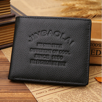 2015 New Men S Fashion Leather Men S Leather Wallet Open Wallet Card Header Layer Of
