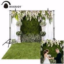 Allenjoy düğün fotoğrafçılığı zemin bahçe çiçek bahar yeşil çim arka plan fotoğraf stüdyosu photocall photophone parti dekor