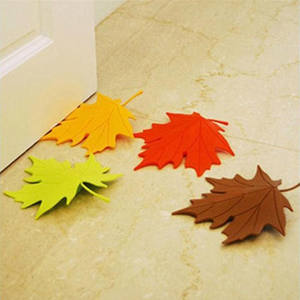 Finger Safety Door Stop Stopper Doorstop Home Decor Maple Autumn Leaf Style