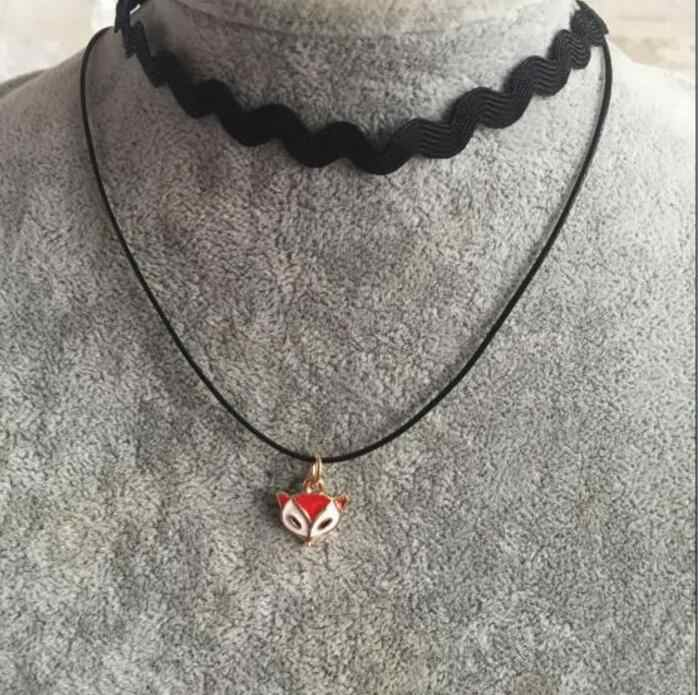 XL 0341 2017 Multi-Lapisan Tali Kalung Kecil Fox Liontin Kalung Cantik Wanita Fashion Perhiasan Gothic Kalung Wanita Terbaik