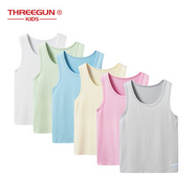 THREEGUN Kids Girls Boys Tank Tops Candy Color Kids Children Undershirt Modal Toddler Girls Clothes Summer Underwear Tank Top(China)