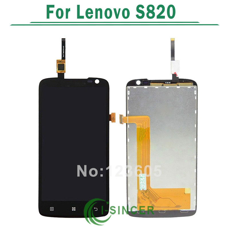 1/PCS lcd for Lenovo S820 LCD screen with touch Display Digitizer parts Assembly free shipping
