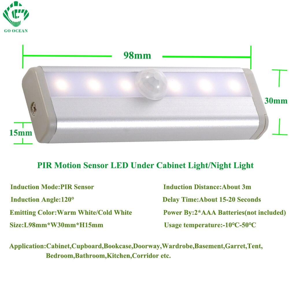 GO OCEAN Under Cabinet Lights Night Light Toliet Motion Sensor Magnetic Strip LED Closet Lights Cabinet Light Battery Night Lamp (9)